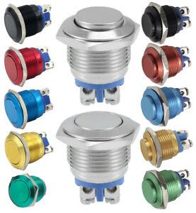 Drucktaster Button Hupe Metall Switch 12V 24V - 250V 5A Ø16mm Ø19mm Ø22mm IP65