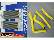 FOR Suzuki RM250 2-stroke 1999 2000  aluminum  radiator and Hose