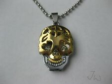 Gold Skull Stainless Steel Chain Necklace
