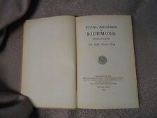 Richmond - Vital Records of Richmond, Massachusetts to 1850