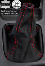 RED STITCH MANUAL REAL LEATHER GEAR BOOT FITS SUBARU FORESTER 1997-2002