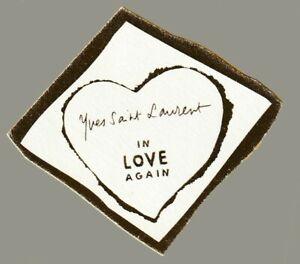 Carte publicitaire  - advertising card -  In Love Again d'Yves Saint Laurent