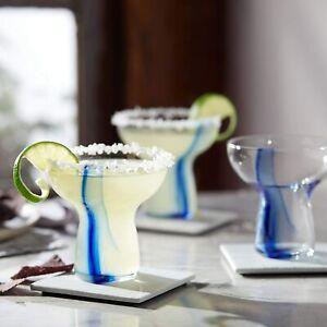 Libbey Blue Ribbon Stemless Margarita Glasses, Set of 6 New