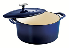 Tramontina Gourmet 5.5 Qt Enameled Cast-Iron Covered Round Dutch Oven Gradated