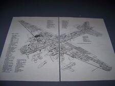 VINTAGE..HEINKEL HE 177 A-5/R2 GREIF.....2-PAGE CUTAWAY/ LEGEND..(663C)