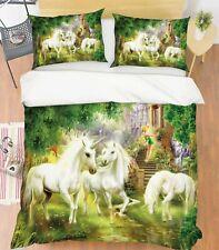 3D Fantasy Castle Unicorn Kep9296 Bed Pillowcases Quilt Duvet Cover Kay