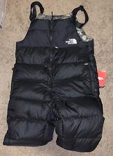 Men's The North Face Black Camo Nuptse 700 Down Bib Overalls Pants XL MENS