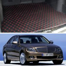 Premium Car Trunk Mat Leather Waterproof Fit for 2008-2014 Mercedes-Benz C-Class
