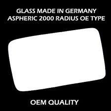Right Side Flat Wing Door Mirror Glass for JAGUAR XJ 1986-1994