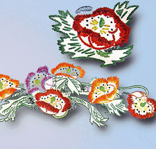 1940s Vintage Simplicity Embroidery Transfer 7156 Uncut Floral Table Linens
