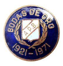 ARGENTINA APB BODAS DE ORO 1921-1971 ENAMEL BUTTONHOLE SPORTS PIN