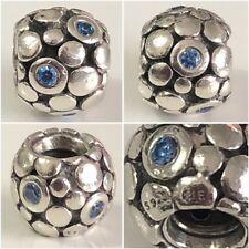 PANDORA BLUE BUBBLES CHARM REF 790329CZB S925 ALE DISCONTINUED