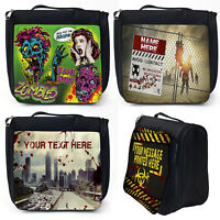 Personalised Wash Bag ZOMBIE Toiletry Hanging Overnight Case Black Birthday Gift
