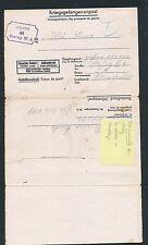 02406) KRIEGSGEFANGENENPOST STALAG XI A vieux. Grabow Stock-courrier interne