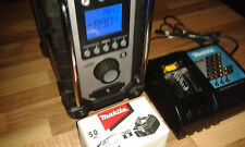 Makita Akku-Baustellenradio DMR 102 + Netzteil, + Akku BL 1850B + DC18RC - neu -
