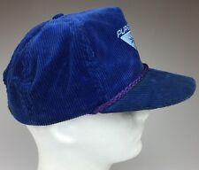 "Vintage Blue Corduroy ""Purgatory"" Colorado Ski Trucker Hat One Size Fits All"