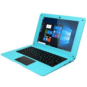 "10.1"" Portable Windows 10 Laptop Computer ,Webcam, HDMI,USB, WIFI,32gb Rom- Blue"