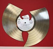"Wu-Tang ""Enter The Wu-Tang"" Laser Cut Gold LP Record Limited Edition Wall Art"