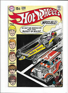 "HOT WHEELS #2 [1970 VG+] ""DRAGSTRIP FINALS!"""