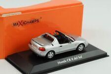 Honda CR-X del sol silber metallic 1992 diecast 1:43 Minichamps Maxichamps