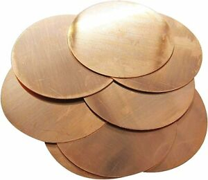 2MM thick. Copper disc/blank/circle. Grade CW024A/C106. Laser cut quality.