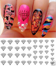 Diamond Nail Art Waterslide Decals - Salon Quality!