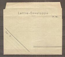 COVER CARTE LETTRE ENVELOPPE FM FRANCHISE MILITAIRE NEUF