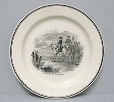 Assiette: Bataille de Castiglione. Napoléon 1er. Faïence Sarreguemines 19e.