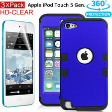 Apple iPod Touch 5 6 5th Full Protection Extreme Heavy Duty Shockproof Case+Film