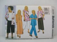 Butterick Pattern 3039 Women's Sz 28W-30W-32W Shirt Top Tunic Dress Skirt Pants