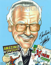 Stan Lee Signed by the Artist Caricature Photo Print