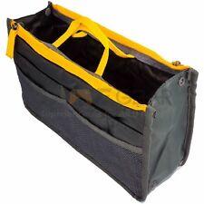 Grey Women Travel Insert Handbag Organiser Purse Large Liner Organizer Bag