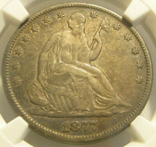 1877 Seated Liberty Half Dollar 50C NGC XF45 Motto Thick Original Silver Toning