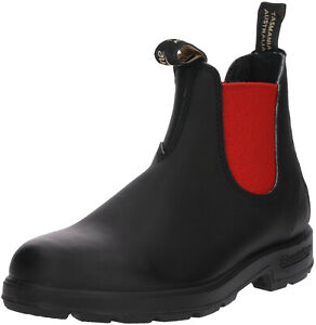Blundstone 508 Premium Australian Chelsea Boots - Black Red Ankle Boots