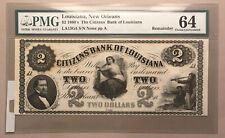Citizens Bank Of Louisiana- 2 Dollars - CU - New Orleans - Remainder