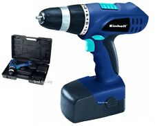 EINHELL 18V CORDLESS DRILL DRIVER SCREWDRIVER & BATTERY IN CASE BT CD18