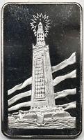 Pharos of Alexandria Mount Everest Mint .999 Fine Silver Art Bar 1 Troy oz