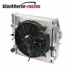 2 Row Aluminum Core Racing Radiator With12v Fan Shroud Fit 94 00 Egehejemdc Mt