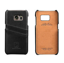 Samsung Galaxy S7 Coated Leather Slim Case with Slots for ID/bank cards