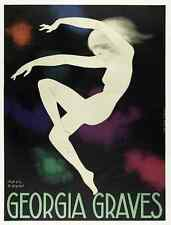 Affiche Art Déco Originale - Paul Colin - Georgia Graves - Ballet - Danse - 1928