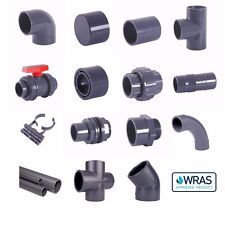 Metric Grey PVC Pressure Pipe and Fittings 12mm-75mm for Marine Aquariums. WRAS