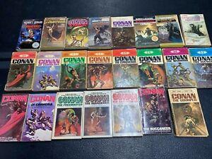Vintage Conan Paperback Lot of 23 - Rare, Conan the Barbarian, Robert E. Howard
