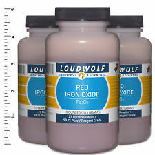 Iron Oxide Red 19 Lb Total 3 Bottles Reagent Grade 25 Micron Powder