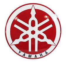 Schild Logo YAMAHA Emaille Blech ⌀ 50cm - NEU - 10 Jahre Garantie