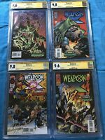 Weapon X #1-4 set - Marvel - CGC SS 9.8 9.6 - Signed by Kubert, Hama - Wolverine
