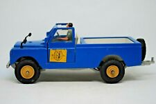 1:32 Britains 9676 LWB LAND ROVER Farm Vehicle w/ Rear STEERING & DRIVER VGC