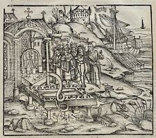 More details for 1502 grüninger incunabula woodcut virgil aeneid: aeneas declares funeral games