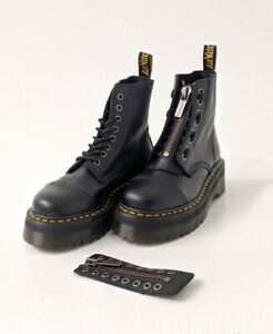 Doc Martens Shoes Woman Sinclair Black Aunt Sally Leather boots Zip Pisa 8 Eyes