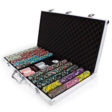 New 750 Monaco Club 13.5g Clay Poker Chips Set with Aluminum Case - Pick Chips!