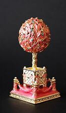 St Petersburg Russian Faberge Egg: The Bay Tree Egg Trinket Box 3.2""